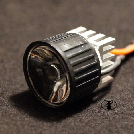 124158-SPOT22-040-WE Spotlight  with white led light, 4 watt, diameter 22 mm., With lens and heat sink.