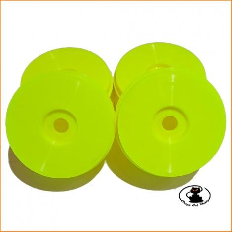 Dish Wheel Yellow Fluo1:8 buggy - couple - 83 mm - SP Racing