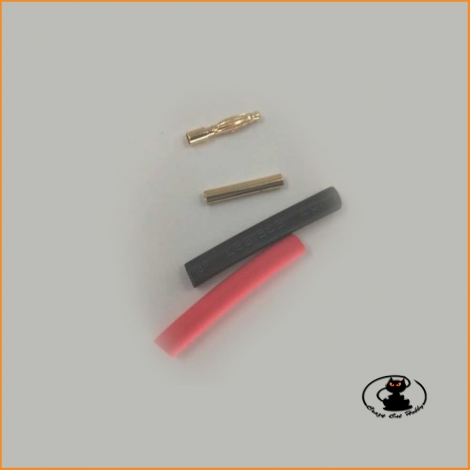 Connettori tondi dorati diametro 1 mm - 1 coppia - Maxpro - MAxcp1