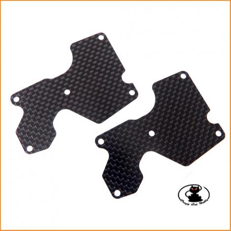 E2157 REAR LOWER ARM PLATE 1.2 mm (CFRP) MBX8 - Mugen