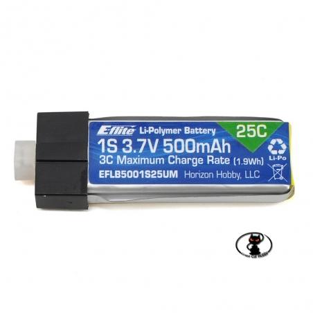 125647-EFLB1501S25 Lipo Battery 150 mAh 1S 3.7 Volt - E Flite - 25C continuous - 1 cell