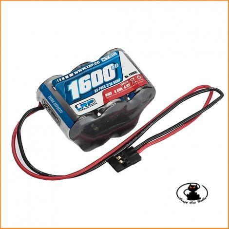 Batteria RX nimh 1600 mah 6V (3+2) LRP XTEC piramidale 3+2 elementi  430601 - 448619