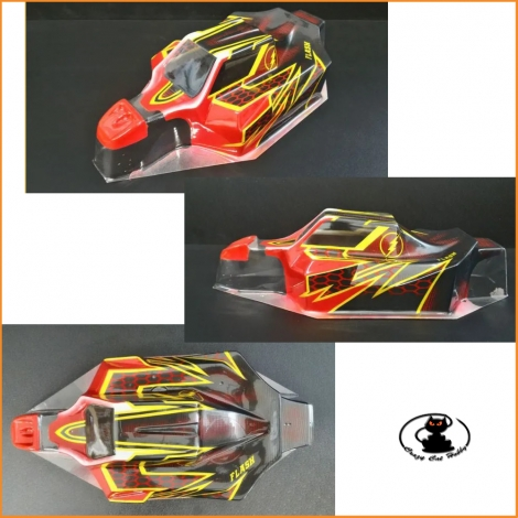 1/8 Buggy Bodied Compatible with Mugen  Associate and Sworkz OFF52 Deltaplastik