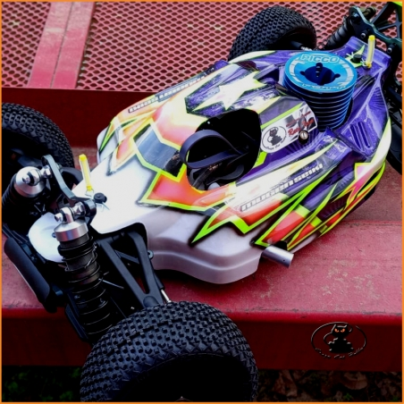1/8 Buggy Bodied Compatible with Mugen  MBX7-8 Eco Nitro OFF36 ( transparent )