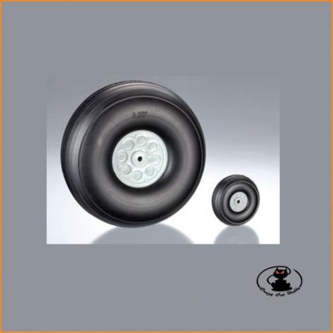 Ruote con Gomma in Poliuretano 76 mm (2 pz) - aXes - 113552