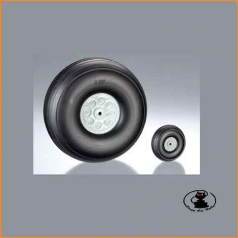 Wheels with Polyurethane Tires 76mm (2 pz) - aXes 113522