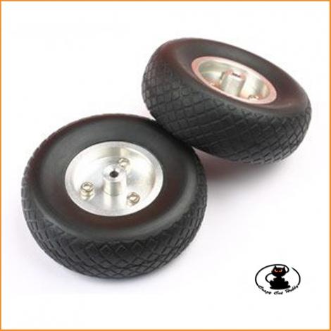 Ruote Air Diamond con Cerchio Alluminio 76 mm (2 pz) - aXes - 113512