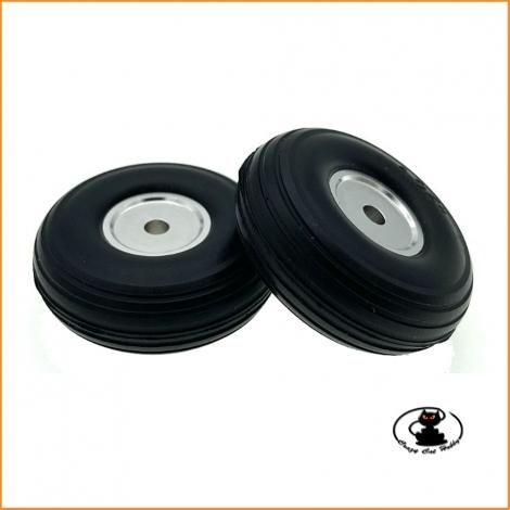 Ruote con Gomma in Poliuretano 32 mm e Mozzo Alluminio (2 pz) - aXes - 114946