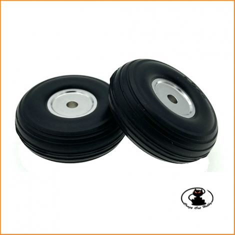 Wheels Polyurethane Tires With Aluminum Rim 32 mm (2 pz) - aXes 114946