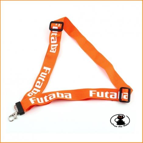 Cinghia Tracolla Radiocomandi Logo Futaba - Arancione Fluo -113657 aXes