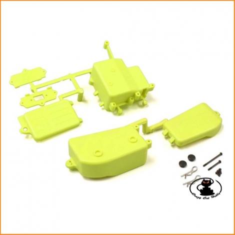 IFF001KYB Scatola Ricevente Batterie Giallo Fluorescente Kyosho MP9-MP10