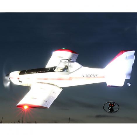 EFL6950 E-Flite Piper Pawnee modello per volo notturno il massimo del divertimento