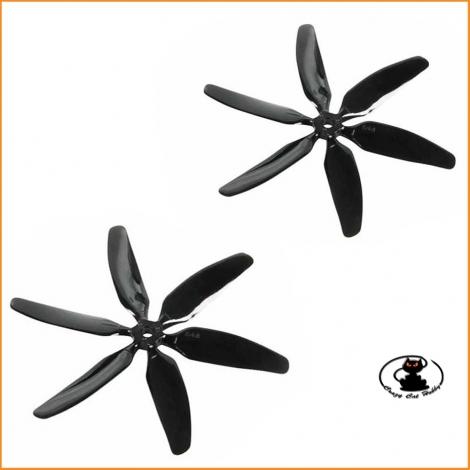 6 Blades Propeller Nylon 5x4 Multiplex ( 2 pcs )