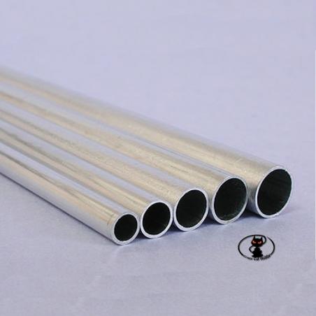 240042 Tubo in alluminio  diametro 4.1x5x1000 mm di lunghezza per rinforzi strutturali e tiranti