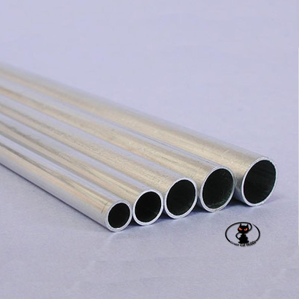 240045 Tubo in alluminio  diametro 7.1x8x1000 mm di lunghezza, per rinforzi strutturali e tiranti