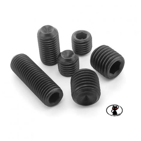 250345 -Grani acciaio punta piana M5x5 aXes acciaio brunito