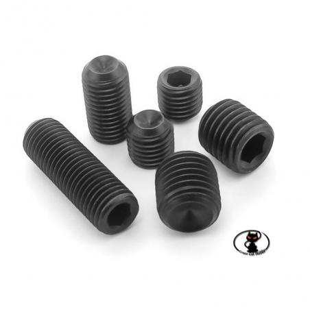 250347 - Grani acciaio punta piana M3x6 aXes acciaio brunito