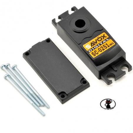 SAX102CA Kit ricambio case per servocomando Savox SC-0251 MG