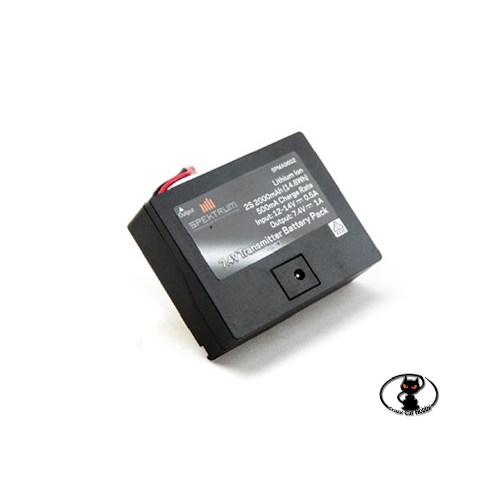 357072-spma9602 LiIon battery 7.4V 2000 mAh specific for Spektrum DX6 DX6e DX7S and DX8 radio controls