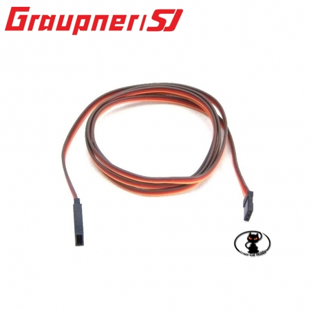445386 Prolunga cavo servocomandi Graupner lunghezza 105 cm cavo maggiorato contatti dorati