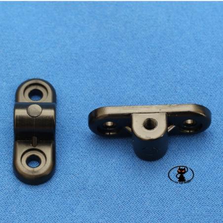 HCAQ8183 Staffa supporto con foro passante 6 mm. filettato