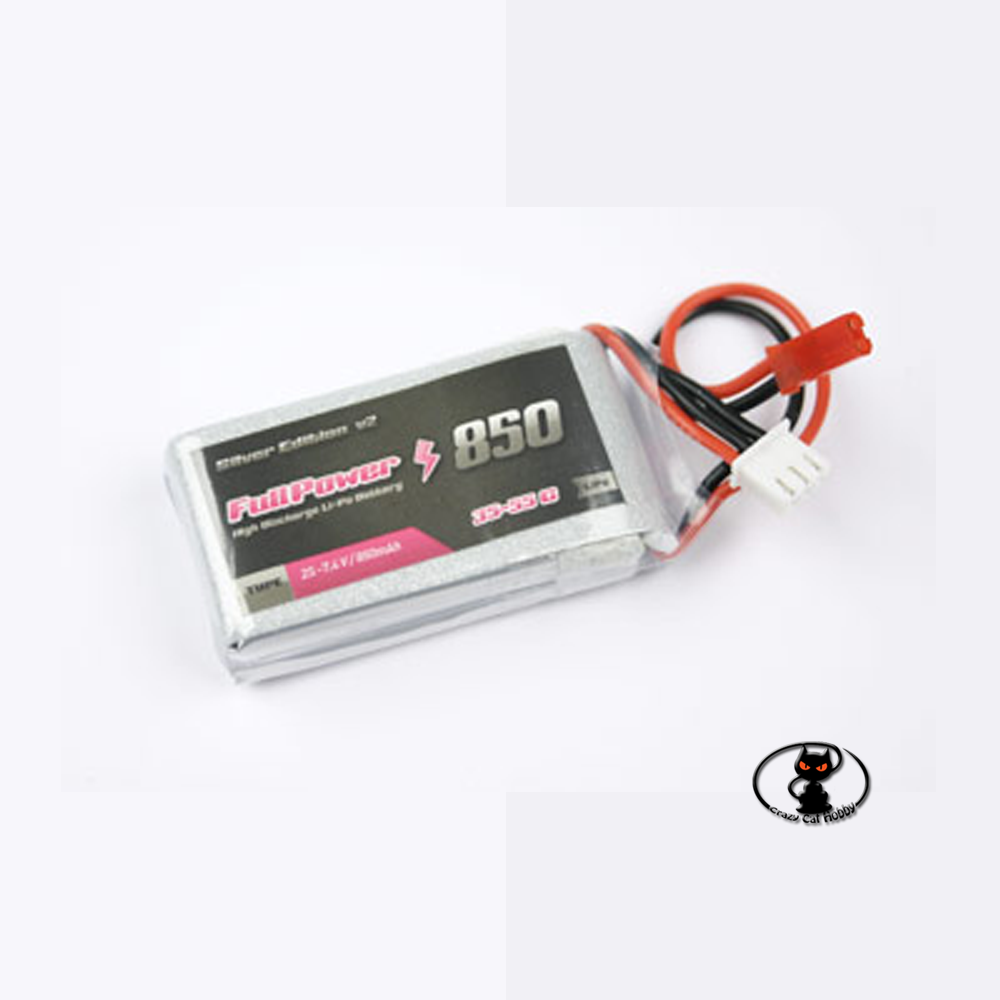 447676-Lipo battery 850 mAh 2S 7.4 Volt - FullPower - 35C continuous - 50C peak 2 cells