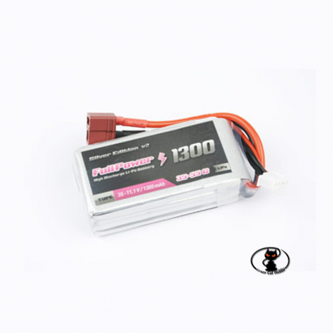 447679 Battery Lipo 1300 mAh 3S 11.1 Volt - FullPower - 35C continuous - 50C peak 3 cells
