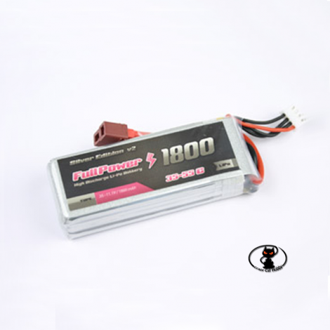 447682 Battery Lipo 1800 mAh 3S 11.1 Volt - FullPower - 35C continuous - 55C peak 3 cells