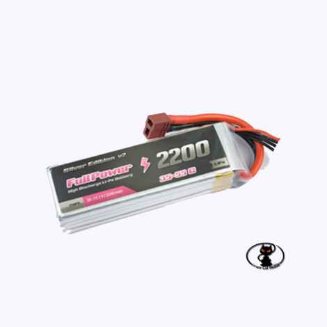 447685 Lipo battery 2200 mAh 3S 11.1 Volt - FullPower - 35C continuous - 50C peak 3 cells