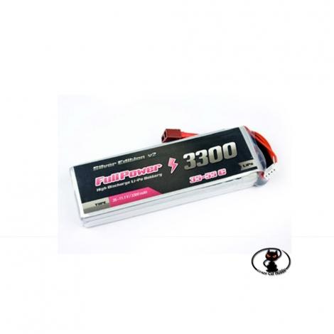 447692 Batteria Lipo 2S 3300 mAh FullPower V2   2 celle  2S 35 C continui