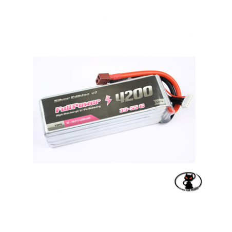 447699-Lipo battery 4200 mAh 6S 22.2 Volt - FullPower - 35C continuous - 50C peak 6 cells