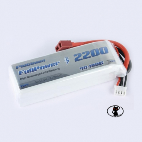 448087-Lipo battery 2200 mAh 3S 11.1 Volt - FullPower Platinum - 90C continuous - 180C peak