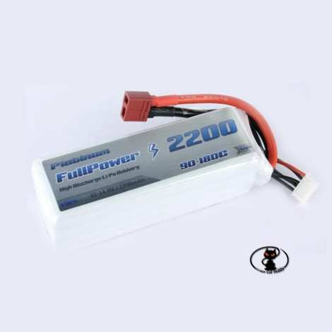 448088-Lipo battery 2200 mAh 4S 14.8 Volt - FullPower Platinum - 90C continuous - 180C peak
