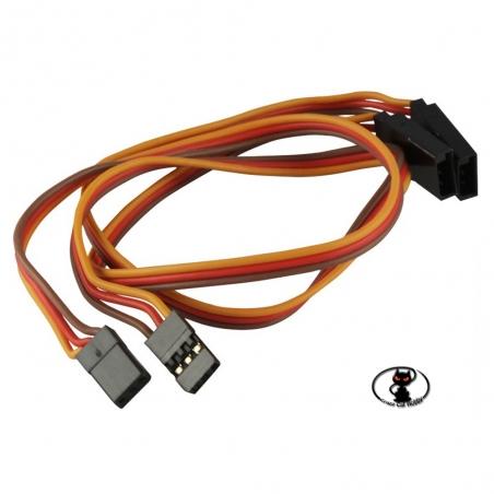 600028 Prolunga per servocomandi con connettore UNIversale lunghezza 30 cm confezione da 2 pezzi