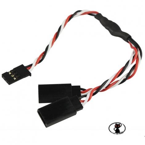 Y cable UNI AWG 22 - 15 cm  - yuki model 600075