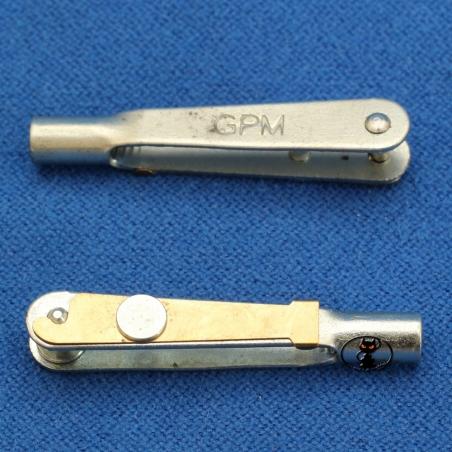 GPMQ3816 Clips media per tiranti dei comandi tipo alettoni timonegas con blocco di fissaggio