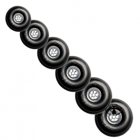 S873 Pair of Skylite rubber wheels with light foam padding