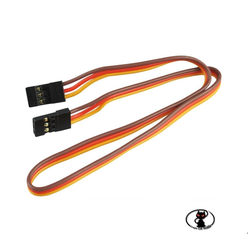 600173 Cavetto collegamento UNI  lunghezza 30 cm con 2 connettori maschio per centraline  stabilizzatori