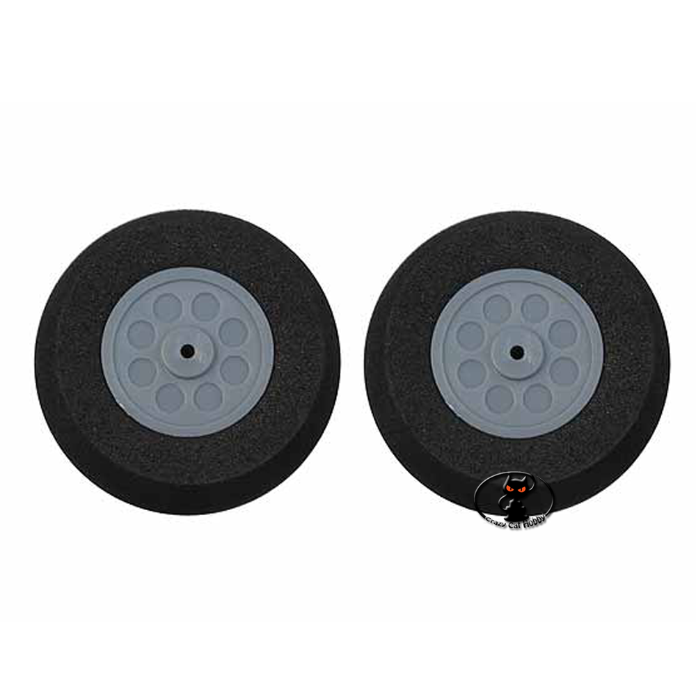 MP733200 Pair of super light sponge wheels rounded profile diameter mm 45 thickness 17 mm